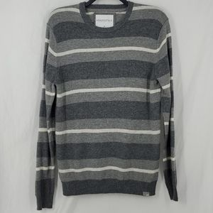 Aeropostale Crewneck Sweater Gray White Mens Large